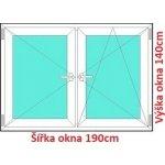Soft Dvojkrídlové plastové okno 190x140 cm, O+OS