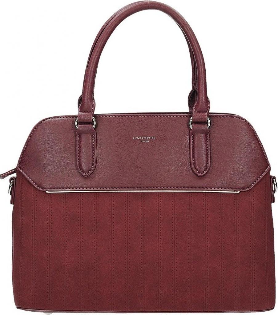 f6167079e988a Kabelka David Jones Luxusní kufříková kabelka do ruky vínová ...