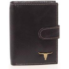 3e8815895 Buffalo Štýlová pánska kožená peňaženka čierna Duke čierna