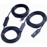 PremiumCord ku3rep15 USB 3.0 repeater a prodlužovací A/M-A/F, 15m