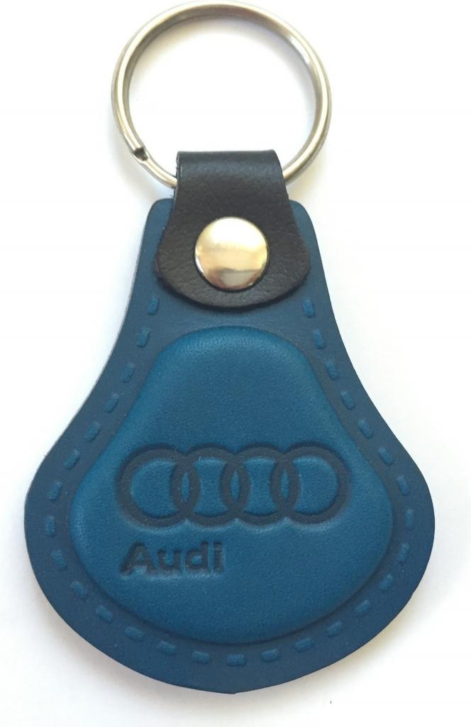Prívesok na kľúče Kožená Audi modrá od 5 8cad8b323db