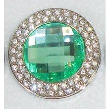 Háčik na kabelku Exclusive - tyrkysový s krystaly