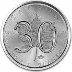 f7a0aca94 Maple leaf 30 rokov výročie 1 oz Kanada strieborná investičná minca
