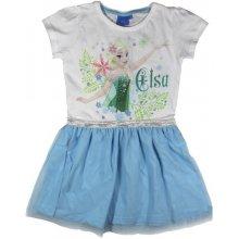 E plus M Dievčenské šaty Frozen bielo modré