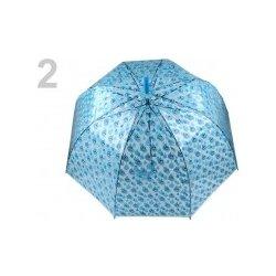 d78e78999 Dámsky dáždnik s rúčkou vystreľovací priehľadný 530773 modrá detská 2 ks