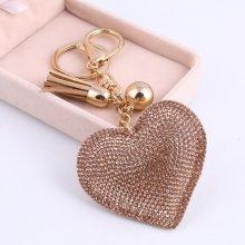 Prívesok na kľúče TrendyVeci Trendový Srdce zlatý TV790-010628 d5d19d505a8
