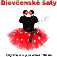 Dievčenské rozprávkové šaty - Minnie s tutu sukňou