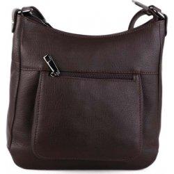talianske kožené kabelky dámske cez rameno stredné čokoládové Zolana ... 4d687b11be