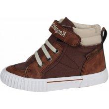 49fc68fc890 KangaROOS chlapecké kotníčkové boty Nery hnědá