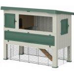 Ferplast Exteriérová plastová klietka pre zajace Grand Lodge 140 GREEN,134x73x110 cm