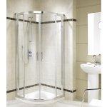 KOLO Geo 6 štvrťkruhový sprchovací kút 90x90cm posuvné dvere
