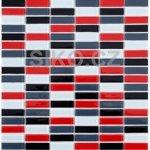 Premium Mosaic Mozaika Mix červeno-černo-šedá 1,5x4,8 cm - MOS4815MIX3