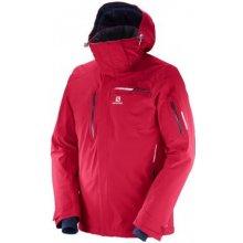 Salomon Brilliant jacket barbados cherry 397295 pánská nepromokavá zimní lyžařská  bunda 4cf270f8c24