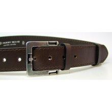 Penny Belts Pánsky kožený opasok 27-1-40 hnedý