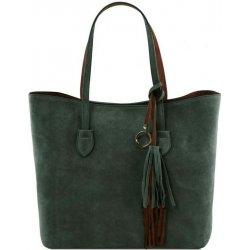 81cc23c00a Tuscany dámska luxusná kabelka z brúsenej kože zelená alternatívy ...