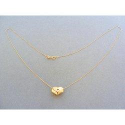 45d9bd731 MARM Design Zlatá retiazka dámska žlté zlato prívesok srdiečko VR42099Z