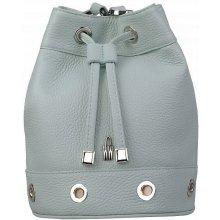 56ff57709 Wojewodzic dámska vrecovitá kožená kabelka zelenomodrá 31809