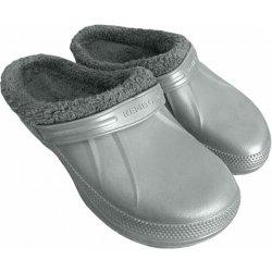 Kenbo Kroksy šľapky pánske nadmerné zateplené sivé od 8 2ac0140e5d4