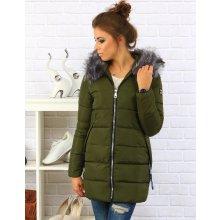 Dámská olivová zimná bunda s kapucňou Ty0089 c80ccc63af9