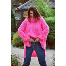 Fashionweek Oversize sveter s rolákom pre chladné dni tlstý fd9ff1e8b2b