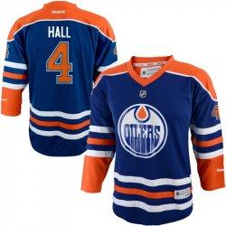 6986bffc0407c Edmonton Oilers detský hokejový dres #4 Taylor Hall Reebok Replica Home
