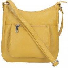Made In Italy kožená kabelka na rameno 5083 okrová a380f4b05cf