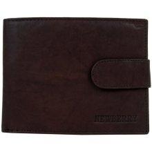 41deeb669 New Berry Pánska peňaženka z bravčovej kože 895 tmavo hnedá