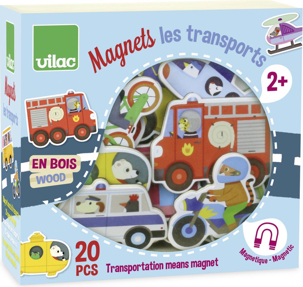 Vilac Drevené magnetky dopravné prostriedky 00467fa77e8
