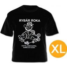 Čierne tričko Rybár roka
