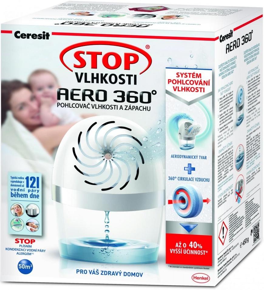 Odvlhčovač vzduchu CERESIT Stop vlhkosti Aero 360° prístroj 450g