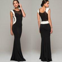 Šaty s bielym lemom čierna