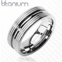 608caa497 Steel Edge Titanový prsteň Spikes 3601