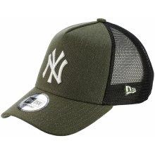 New Era 9FO Seasonal Trucker MLB New York Yankees Youth Heather Army White 8fa502ebd9f