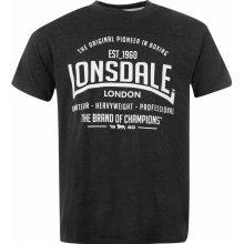 Lonsdale Box T Shirt Mens Charcoal