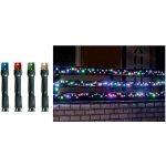LED vianočné osvetlenie, svietiaci reťazec farebný KKL 500 M