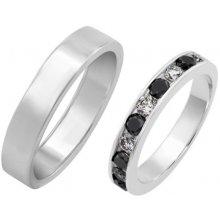 ff0772e95 Eppi Svadobné prstene eternity diamantový a plochý pánsky Ytor RW224417