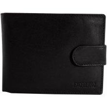 Pánska kožená peňaženka Ex - čierna