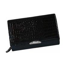 0c04121a9 Mercucio Čierna kožená lakovaná peňaženka s mincovníkom zvonku