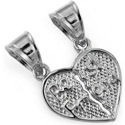 Zlatý prívesok srdce pre dvoch Best Friend IZ10604A alternatívy ... 00476342900