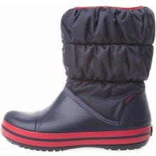 Crocs WINTER PUFF BOOT Detské zimné topánky tmavo modrá   červená 61f3daa8963