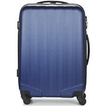David Jones Pevné cestovné kufre CHAUVETTA 50L modrá
