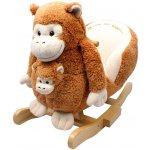 JOLLY RIDE Hojdacia opička hnedá