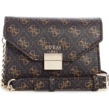 Guess Mia Logo Mini Crossbody hnedá d5f990a32f4