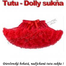 a0d99b1cd Dímska Tutu sukňa Dolly sukňa pre dievčatá červená