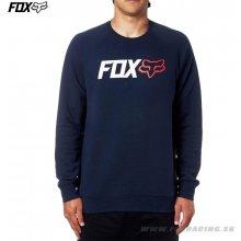 Fox pánská mikina Legacy Crew Fleece tmavo modrá 86e8826aaf