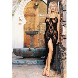 Leg Avenue Butterfly Lace Long Dress With Split