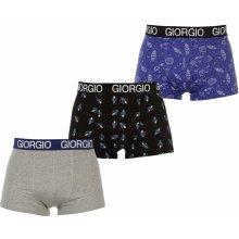 Giorgio Rocket Trunks Mens Blue/Grey/Black 3 pack