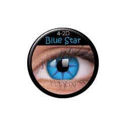 d655acbc1 MaxVue ColorVue Crazy šošovky Blue Star trojmesačné dioptrické 2 ks ...