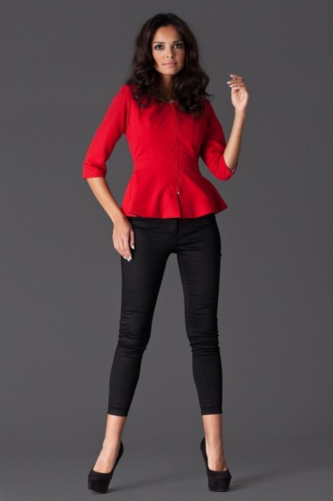 a272b817f5f8 Figl dámske elegantné sako M132 červené od 29