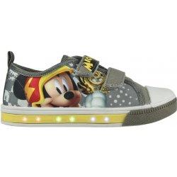 3f41f823826b2 Disney Brand Chlapčenské blikajúce tenisky Mickey Mouse šedé ...